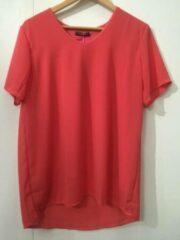 Merkloos / Sans marque Pink Lady dames blouse coral uni KM - maat L