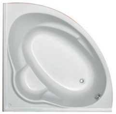Plieger Kreta hoekbad acryl kwartrond 135x135x43cm met poten wit 110020 0940904