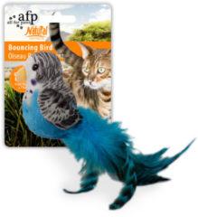 All For Paws Bouncing Bird - Kattenspeelgoed - 10x20x7 cm Assorti
