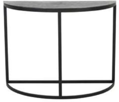 Zwarte Light & Living Light and living Light&Living Side table PETO ruw lood 76 x100 x 42