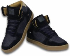 Blauwe Cash Money Cash M Heren Schoenen - Heren Sneaker High - Denim Navy - Maten: 45