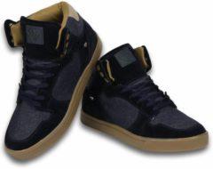 Blauwe Cash Money Cash M Heren Schoenen - Heren Sneaker High - Denim Navy - Maten: 45