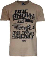 Kaki Back to the Future Shirt – Doc Brown's Time Travel Agency maat XXL