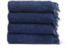 4-teiliges Handtuch Set LAURA Casa di bassi blau