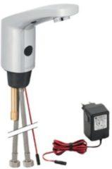 Geberit Hytronic 85 1-gats wastafelkraan voor koud en warm water 230V IR met temperatuur regelknop chroom 116.155.21.1