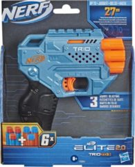NERF blaster Elite 2.0 Trio junior blauw/oranje 7-delig