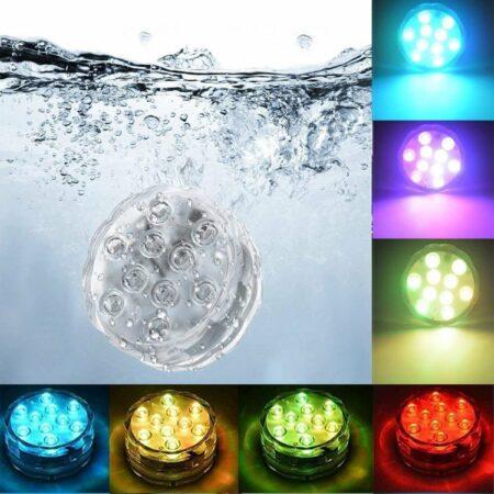 Afbeelding van Paarse Merkloos / Sans marque Zwembad verlichting - Led verlichting onderwater - Onderwater verlichting - Zwembad led verlichting - Led verlichting - Decoratie Licht - Licht voor onderwater - Waterlicht -Waterbestendig licht + Afstandsbediening