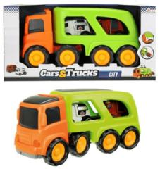 Toitoys Toi-toys Truck Met 2 Hulpdienstvoertuigen 45 Cm Oranje/groen