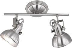 Grijze Reality Leuchten Trio Lighting Tommy 2 - Plafond spot - 2 lichts - L 365 mm - staal