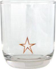 Transparante TAK Design Drinkglas Star Laag - Glas - Ø7,8 x 8,8 cm - Koper