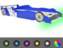 VidaXL Kinder raceauto bed met LED-verlichting 90x200 cm blauw