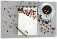 Rode KuijsFotoprint Tuinposter – Koffiebonen met Kruiden - 120x80cm Foto op Tuinposter (wanddecoratie voor buiten en binnen)