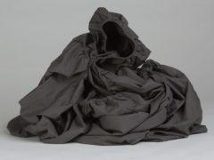 Donkergrijze Yumeko hoeslaken percal 300tc donkergrijs 140x200x30