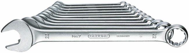 Afbeelding van Gedore 6093070 Ring-steeksleutel set 11-delig 8 - 22 mm DIN 3113 Form A