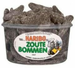 Zwarte Haribo silo Zoute Bommen 1350 gr.