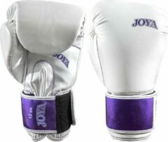 Joya Fightgear - Bokshandschoenen - Top One - Wit/Paars - Leer - 8oz