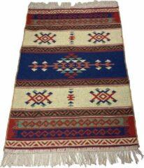 Sunar Home Kelim Vloerkleed Inozu- Kelim kleed - Kelim tapijt - Oosterse Vloerkleed - 60x90 cm - Loper - Bankkleed - Plaid - Met kleine cadeau