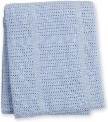 Blauwe Lulujo Cellular Blanket - Blue