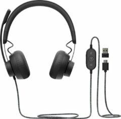 Logitech Zone Wired Teams Headset Hoofdband Zwart