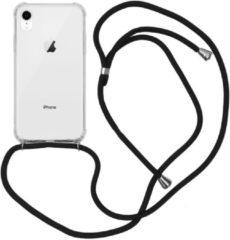Transparante IMoshion Backcover met koord iPhone Xr hoesje - Zwart