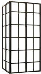 Douche Concurrent Douchecabine Black-Corner Vierkant Hoekinstap Schuifdeur 89x89x210cm Helder Glas Zwart Profiel 4mm Veiligheidsglas Easy Clean