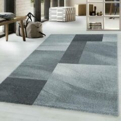 Adana Carpets Retro vloerkleed - Stencil Rectangles Grijs Antraciet 160x230cm