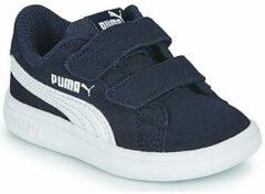 Witte PUMA Smash v2 SD V Inf Kinderen Sneakers - Peacoat-Puma White - Maat 27
