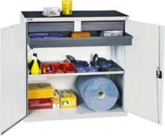Stumpf Metall Stumpf® Serie 3000 Werkzeugschrank mit 3 Schubladen und 1 Wannenboden, lichtgrau - 100 x 50 x 50 cm