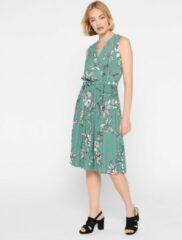Turquoise LOLALIZA Midi jurk met bloemenprint Dames Jurk Maat XS