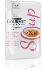 Gourmet Crystal Soup Pouch 40 g - Kattenvoer - Tonijn&Ansjovis - Kattenvoer