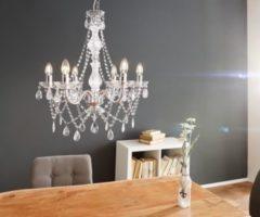 DeLife Hängeleuchte Gypsy Starlight Transparent 55x70 cm 6-armig Kronleuchter