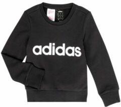Witte Adidas YG E Lin Sweat Meisjes Sporttrui - Black/White - Maat 152