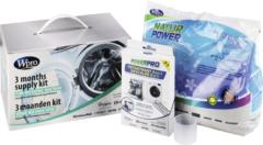 """Universeel WPRO Set """"Washing"""": Waschpulver (1Kg470) für Waschmaschine 484000001143, KWM214"""