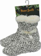 Inter socks Sloffen Dames - EXTRA ZACHT - 36/38 - ANTI-SLIP - beige jungle print