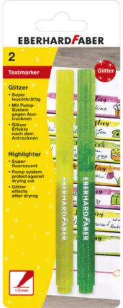 Afbeelding van Eberhard Faber Markeerstift EFA Glitter - etui 2st. (geel,groen)