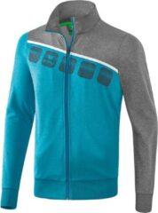 Lichtblauwe Erima 5-C Polyesterjack - Jassen - blauw licht - S