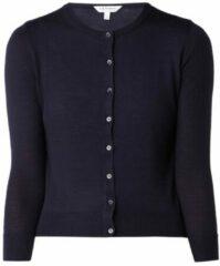 Donkerblauwe L.K.Bennett Bonnie vest van wol met knoopsluiting