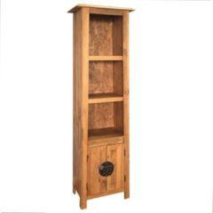 Bruine VidaXL Badkamerkast vrijstaand 48x32x170 cm gerecycled grenenhout