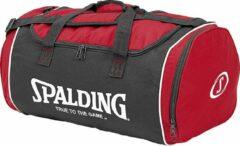 Rode Spalding (Medium) Sporttas Met Zijvakken - Red / Black / White | Maat: UNI