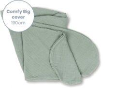 Doomoo Basics - Cover Comfy Big Tetra groen - Hoes voor Voedingskussen Comfy Big - Biokatoen - 190cm
