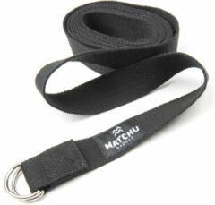 Matchu Sports - Yoga strap - Yoga riem - 3m - Zwart