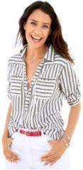 Bruine Classic Inspirationen blouse met trendy streepdessin