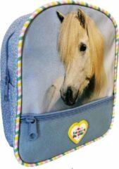 Blauwe Lannoo Rugzak my favourite friends 24 cm horse