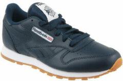 Marineblauwe Reebok Classic Lth AR1312, Kinderen, Marineblauw, Sneakers maat: 34,5 EU