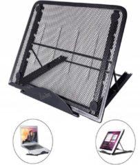 Laptop en Tablet standaard, verstelbaar en inklapbaar, 13.3 Inch - Bureau Tafel Houder Staander (o.a. 11 / 11.6 / 12 / 13 / 13.3 / 14 inch laptop / macbook / notebook), zwart , merk i12Cover