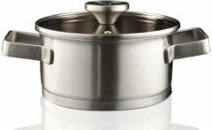 Zilveren Herman den Blijker RVS kookpan met deksel - ø18 cm - assortiment 'Het Gemak'
