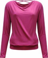 "Roze Yoga-longsleeve vloeiende shakti ""ala"" - framboos L Loungewear shirt YOGISTAR"