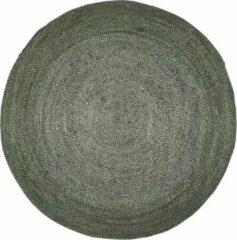 Donkergroene Rocaflor Vloerkleed jute Bosgroen rond 150cm