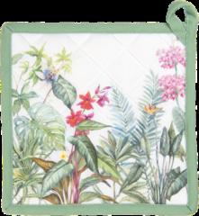 Groene Clayre & Eef Pannenlap JUB45 20*20 cm - Meerkleurig 100% Katoen Afgiet Pannenlap Afgiethulp Pannelap