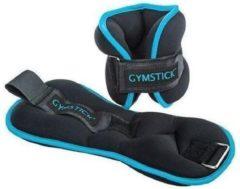 Zwarte Gymstick Active Enkel en Pols gewichten 2 x 1kg